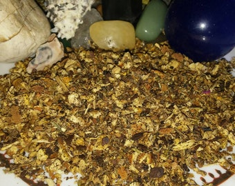1-3oz Loose Smudge Mix, Herbs, Botanicals, Resins, Essential Oils,Mood Lifting,Energizing,aids to Center inspires,  positive vibes
