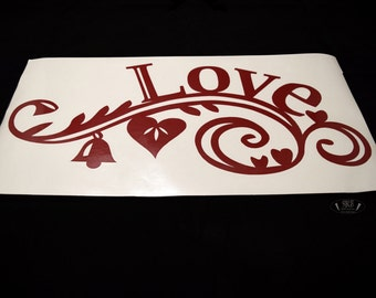 Large LOVE Vinyl Wall Decal