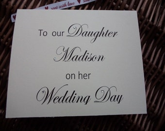 Personalised wedding card to our Daughter, Wedding card, wedding day card, Bespoke cards, Daughter, personalised card for daughter