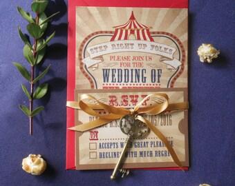 Vintage Circus - Wedding Stationery Set