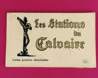 Postcards//Postcard Set//Antique Postcards//French Postcards//Vintage Postcards//Lourdes Postcards//Christian Postcards//Religious Postcards