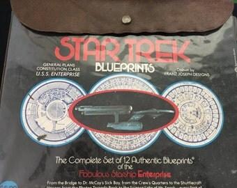 Vintage Star Trek Blueprints Printed in 1975
