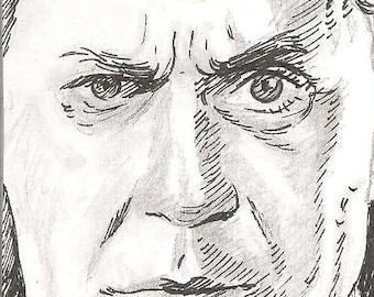 Dracula  Super Close up Sketch Card