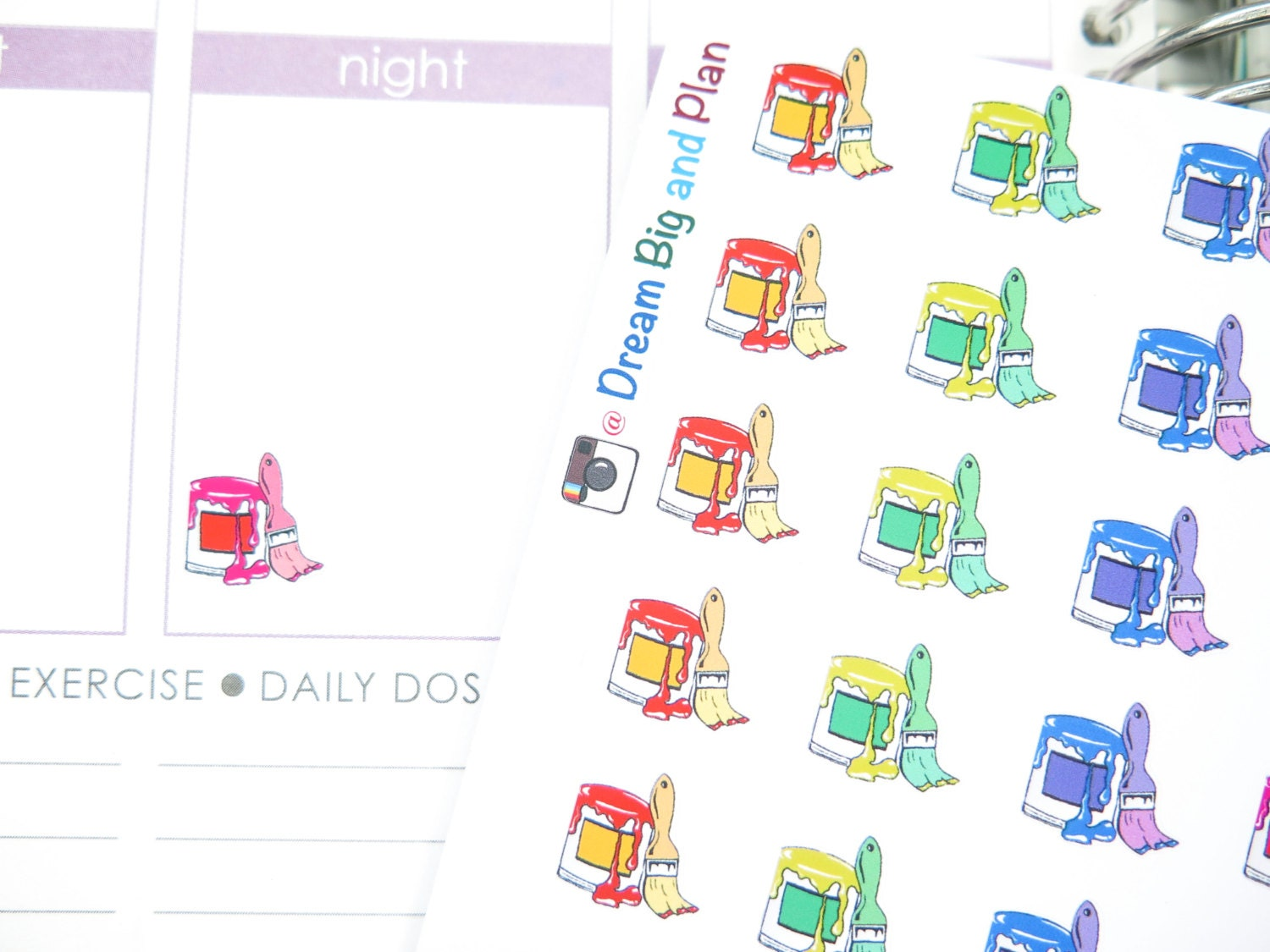 Paint bucket planner stickers dbp123 for Paint planner