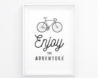 Bike Poster, Bicycle Art, Print Bike, Quotes Bike, Bicycle Prints, Printable Bike, Wall Art Bike, Wall Prints Bike, Bicycle Wall Decals