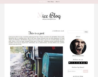 Simple blogger template – Nice Blog (Pink edition)
