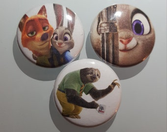 Zootopia PinBack Button Set
