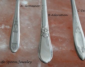 "Spoon Bracelet ""Choose Your Pattern"" Vintage Handmade Mothers Day Wedding Gift Fork Bracelet Spoon Jewelry Silverware Bracelet -11"