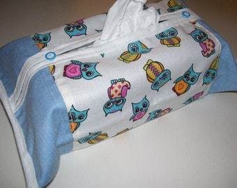 TISSU BOX COVERS - owls pattern design