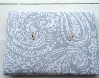 Handmade fabric padded key hooks/holder/board