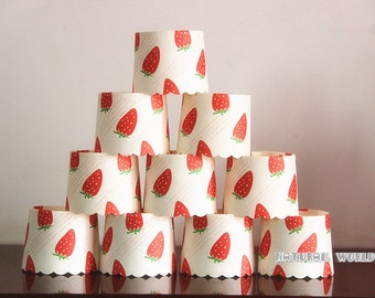 150X strawberry Baking Cups,Cupcake Liners,Cake Cups Candy Cups Paper Dessert Cups Rainbow Party,Birthday Favor DIY Toppers,Wedding Favor