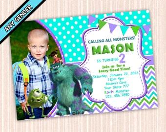 Monster Inc Invitation - Monster inc Birthday Party - Monster Inc Printables - Monster Invitations