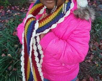 Whynter's Rainbow: Handmade Crochet Scarf