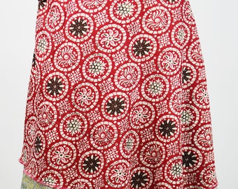 Wrap around skirt can be wear in any style