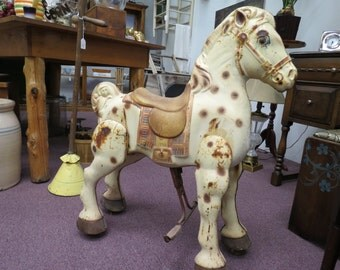 Vintage Mobo Metal Riding Horse Toy