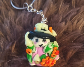 Forest keeper keychain fimo glow in the dark