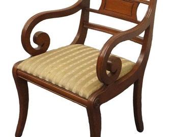 Delightful CONSIDER WILLETT Wildwood Cherry Rope Twist Arm Chair