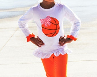 Basketball Bow Outfit