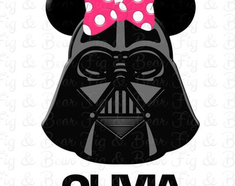 Disney Darth Vader Personalized Star Wars Minnie Mouse Shirt Iron On Transfer Personalized FREE