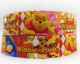 Disney Winnie the Pooh 1 inch Ribbon by the yard