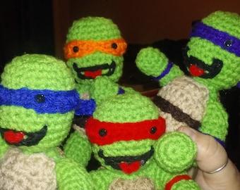 """ninja turtle 6"""" set of four"""