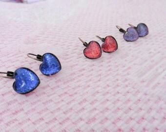 SPARKLES! Heart earring