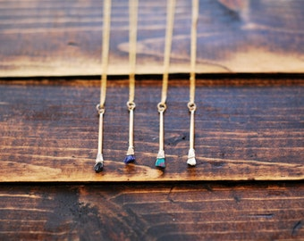 Miniature Paintbrush Necklace | Tiny Paint Brush Pendant | Made in the USA