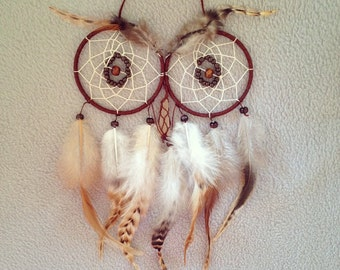 Owl Dreamcatcher with Citrine nose