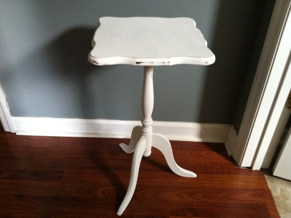 Small Hand Painted Vintage Shabby Chic Side Table Accent