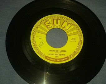 Jerry Lee Lewis TEENAGE LETTER. And Seasons of my heart.  SUN record 45. 1960s