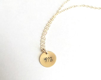 Dainty Gold Filled Initial Necklace