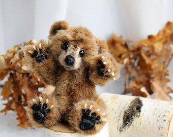 SOLD realistic Grizzly bear cub mini Teddy Bear OOAK Grizzly bear cub Charlie