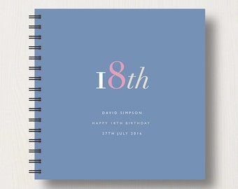 Personalised 18th Birthday Memories Book or Album