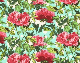 Amy Butler Soul Blossoms Joy Twilight Peony in amaranth -  cotton quilting fabric by the yard