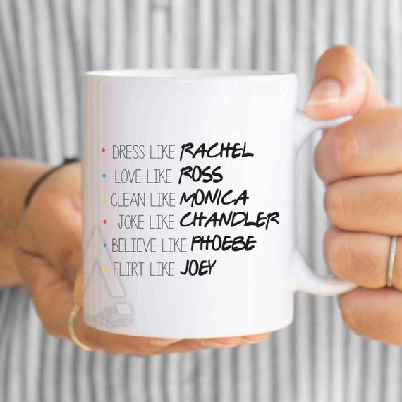 Ideas For Christmas Gifts For Best Friend: FRIENDS TV Show Mug Christmas Gifts Dorm Decor