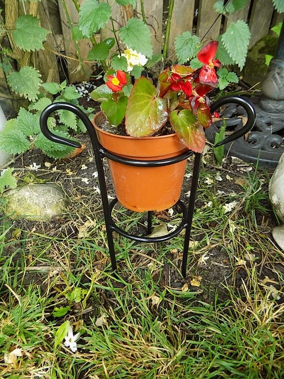 Items similar to wrought iron forged steel custom plant pot stand on etsy - Steel pot plant stands ...