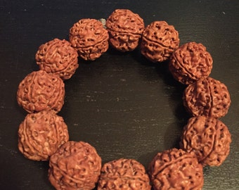 Best Five Face Rudraksha Bracelet Nepal 五瓣最强! 21-22mm