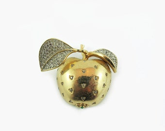 Vintage Nettie Rosenstein Apple Brooch