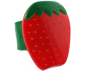 HQM Pop Art Plastics Strawberry Fruit Cuff