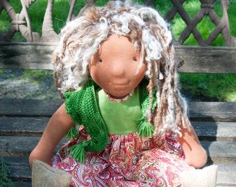 "Caroline - OOAK 19"" Waldorf doll. Needle felted features.LRS16002"