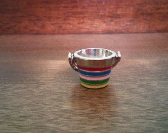 Rainbow Bucket / Pail Charm