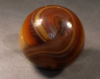 MFC Butterscotch Slag Marble 9 and Tail Gorgeous Marble Just Look at those Markings #0008