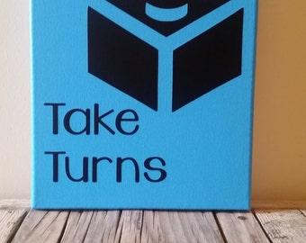 Take Turns Playroom Canvas
