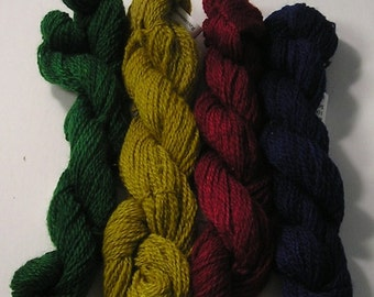 Dyed 80/20 Wool/Mohair Yarn