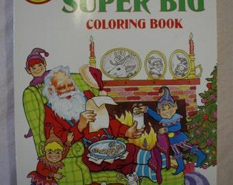 Santa's Super Big Coloring Book