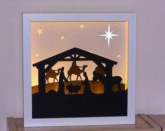 Nativity Framed Night light