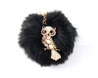 Owl Pom-Pom Key Chain / Bag Charm