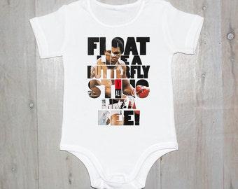 Float Like A Butterfly Printed Baby Onesies & Kids Tees