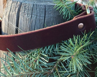 Water dog leather collar