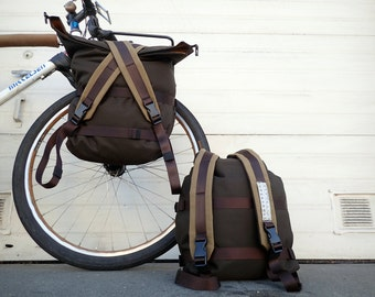 Pannier Backpack for Bicycle Touring or Commuting, Custom Color and Features